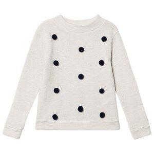 ebbe Kids Valerie Dot Sweater White/Navy Dot 134 cm (8-9 Years)