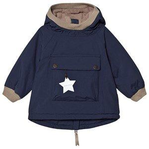 Mini A Ture Baby Wen Anorak Peacoat Blue Winter coats