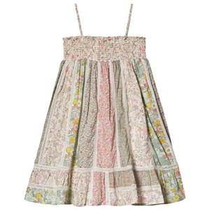 Image of Bonpoint Floral Liberty Smock Dress Pink/Off White 12 years