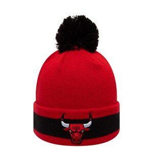 New Era Chicago Bulls Pom-Pom Beanie Red and Black Beanies