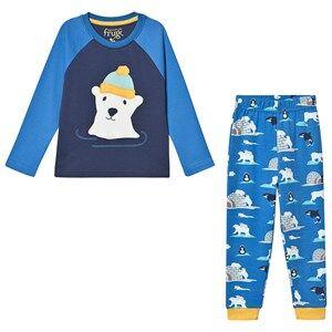 Frugi Organic Pajamas Jamie Jim Jams Blue/Polar Bear Pyjamas