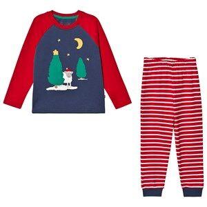 Frugi Organic Pajamas Jamie Jim Jams Space Blue/Festive Red Pyjamas