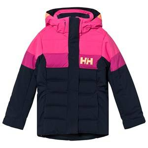 Image of Helly Hansen Color Block Junior Diamond Winter Jacket Black/Pink Ski jackets