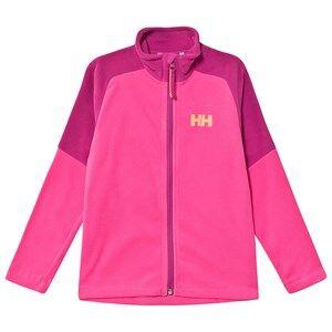 Image of Helly Hansen Color Block Junior Daybreaker 2.0 Fleece Jacket Pink 10 years