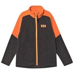 Image of Helly Hansen Junior Daybreaker 2.0 Fleece Jacket Black/Orange 10 years