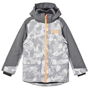 Image of Helly Hansen Camo Print Junior Skyhigh Ski Jacket Grey Ski jackets