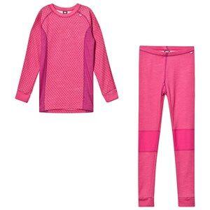 Image of Helly Hansen Junior Lifa Merino Base Layer Set Pink 12 years