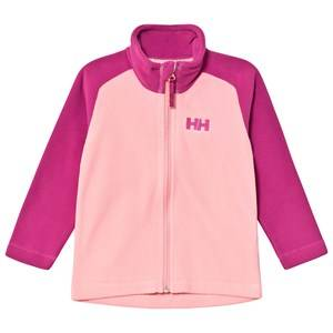 Image of Helly Hansen Color Block Kids Daybreaker 2.0 Fleece Jacket Pink 3 years