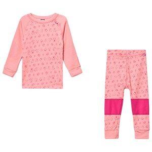 Image of Helly Hansen Printed Kids Lifa Merino Baselayer Set Pink 1 year