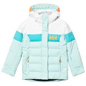Image of Helly Hansen Color Block Junior Diamond Jacket Pale Blue Ski jackets