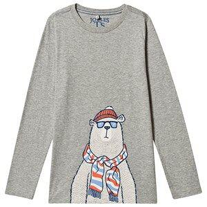 Tom Joule Polar Bear Print Finlay Long Sleeve T-Shirt Grey 4 years
