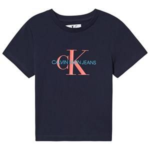 Image of Calvin Klein Jeans Logo Tee Navy 12 years