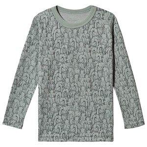 Hust&Claire; Abba Long Sleeve Tee Jade Green Pyjamas