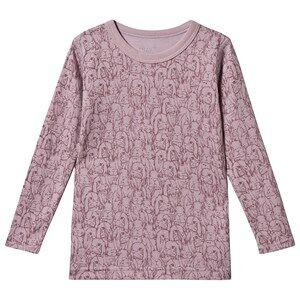 Hust&Claire; Abba Long Sleeve Tee Purple Fog Pyjamas