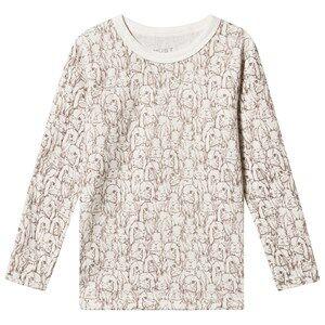 Hust&Claire; Abba Long Sleeve Tee Off White Pyjamas