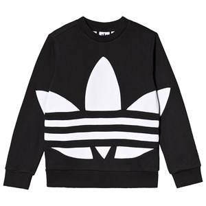 Image of adidas Originals Big Trefoil Logo Crew Sweatshirt Black 7-8 years (128 cm)