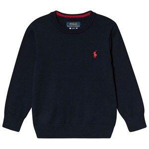 Ralph Lauren Cotton Crewneck Sweater Hunter Navy 4 years