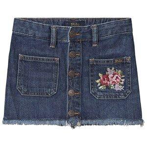 Image of Ralph Lauren Button Skirt Denim 4 years