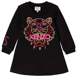 Image of Kenzo New Year Tiger Sweat Dress Black 3 years