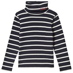 Image of Ralph Lauren Polo Long Sleeve Tee Navy and White M (8-10 years)