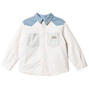 Bonpoint Western Style Jacket White/Blue 6 years