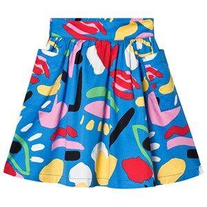 Stella McCartney Kids Retro Paint Midi Skirt Blue/Multi 4 years