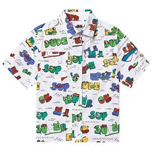 Stella McCartney Kids Super Dude Shirt White/Multi 10 years