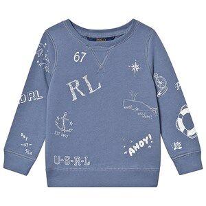 Ralph Lauren Nautical Sweatshirt Blue S (7 years)