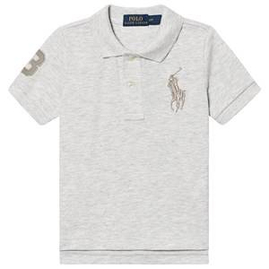 Ralph Lauren Big Logo Polo Heather Grey 3 years