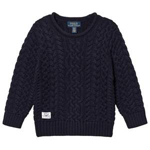 Ralph Lauren Cable Knit Sweater Navy L (14-16 years)