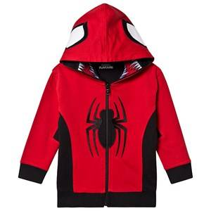 Image of Fabric Flavours Spiderman Reversible Hoodie Red and Black 3-4 Years