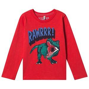 Tom Joule Action Dino T-Shirt Red 5 years