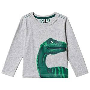 Tom Joule Zipadee Dino Print T-Shirt Grey 3 years