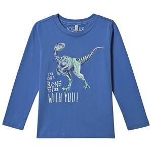 Tom Joule Raymond Glow in the Dark Dino T-Shirt Blue 7-8 years