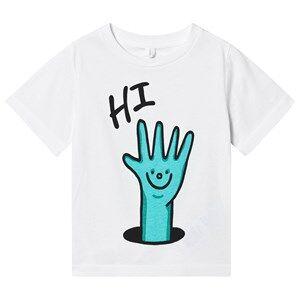 Stella McCartney Kids Hi Hands Tee White 2 years