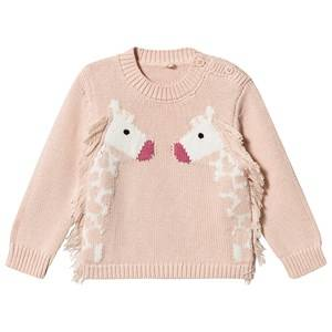 Stella McCartney Kids Giraffe Sweater Pale Pink 18 months