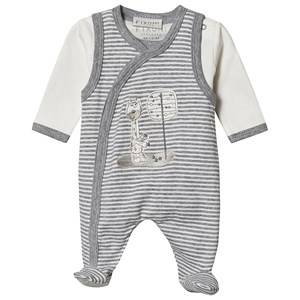 Image of Fixoni Footed Baby Body Set Off White 56 cm (1-2 Months)