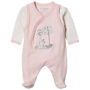 Image of Fixoni Footed Baby Body Set Rose Dream 50 cm (0-1 Months)