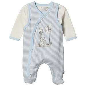 Image of Fixoni Footed Baby Body Set Light Blue 50 cm (0-1 Months)