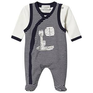 Image of Fixoni Footed Baby Body Set Peacoat 56 cm (1-2 Months)