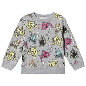 Stella McCartney Kids Angry Fish Sweatshirt Grey 6 years