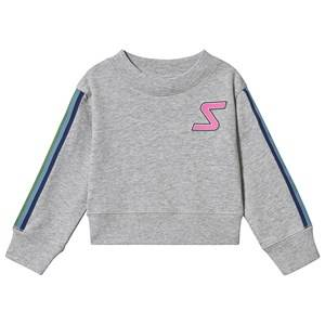 Stella McCartney Kids Badge and Tape Sport Sweatshirt Grey 5 years