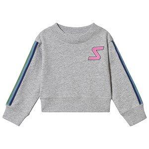 Stella McCartney Kids Badge and Tape Sport Sweatshirt Grey 3 years