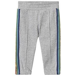 Stella McCartney Kids Logo Tape Sport Sweatpants Grey 6 years