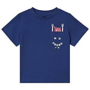 Stella McCartney Kids No Probs Pocket T-shirt Blue 3 years