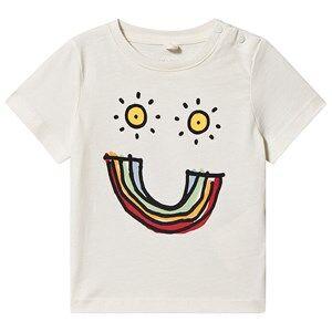 Stella McCartney Kids Rainbow Smile T-shirt Off White 6 months