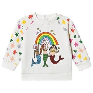 Stella McCartney Kids Mermaids & Stars Sweatshirt Off White 9 months
