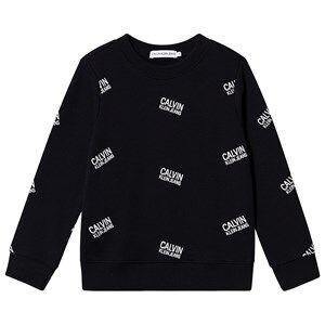 Image of Calvin Klein Jeans Stamp Logo Sweatshirt Black 8 years