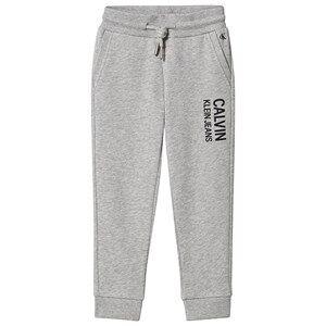 Image of Calvin Klein Jeans Stamp Logo Sweatpants Grey 4 years