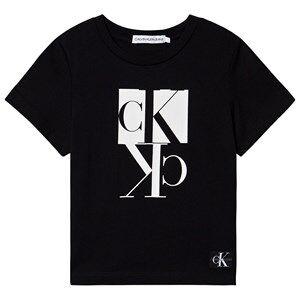 Image of Calvin Klein Jeans Monogram Logo Tee Black 4 years